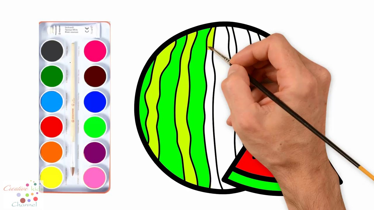 Watermelon For Baby Drawing And Coloring Book For Kids Karpuz