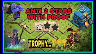 Th12 Anti 2Star With Proof | Best Th12 Trophy and War Base | TRUSTED