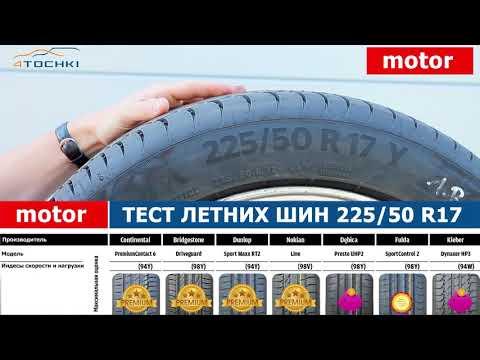 Motor - тест летних шин 225/50 R17 2018