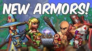Terraria 1.3.4 NEW ARMOR SETS! Squire, Huntress, Monk & Apprentice! | POWERFUL BONUSES!