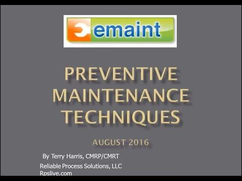 Best Practices Webinar: Preventive Maintenance Techniques