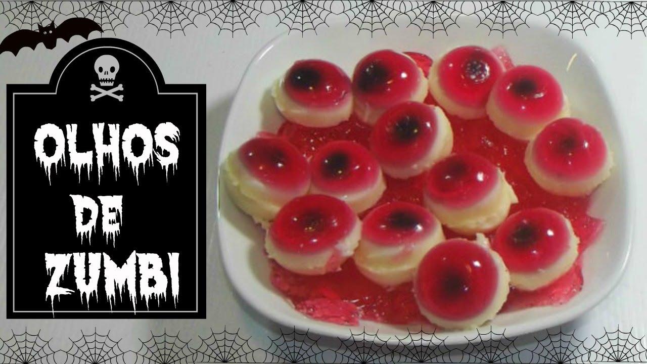 Enfeites De Zumbi ~ Receitinha Olhos de comestíveis de Zumbi HALLOWEEN YouTube