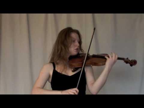 Aria and cadenza for solo violin, Geoffrey Gordon (2001), violin Noémie Combe
