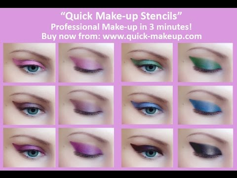 Almond Eyes Make-up Tutorial with Quick Make-up Stencils - YouTube