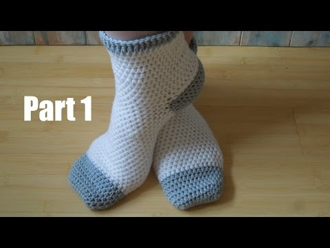 (crochet) Pt1: How To Crochet Adult Socks - Yarn Scrap Frida