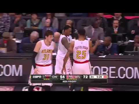 Atlanta Hawks win vs Chicago Bulls. February 26, 2016   NBA 2015 16 Season