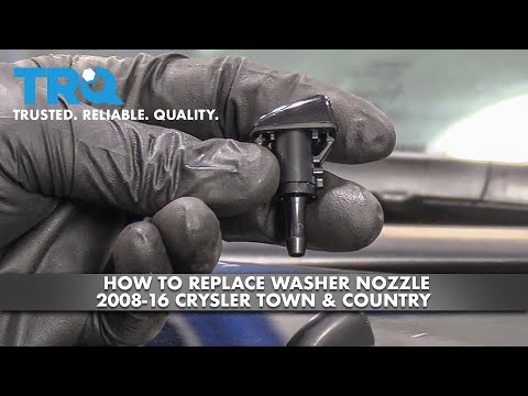 How to Replace Windshield Washer Nozzles 08-16 Chrysler Town & Country