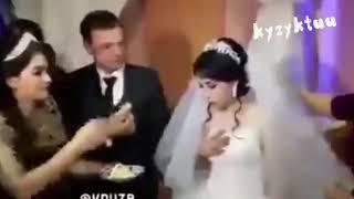 АЯЛДЫ БАШТАН КАРМАШ КЕРЕК. Подборка идиотов. Жених ударил невесту на свадьбе.