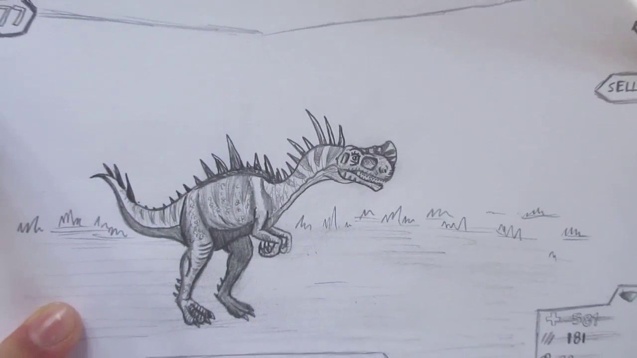 How to Draw Monolophosaurus from