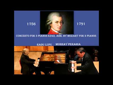 Radu Lupu & Murray Perahia: W. A. Mozart - Pianos Concerto No.7 in F Major, K 242