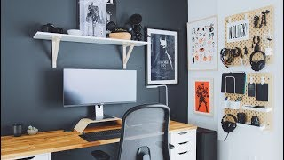 DIY Home Office and Desk Tour - A Designer's Workspace