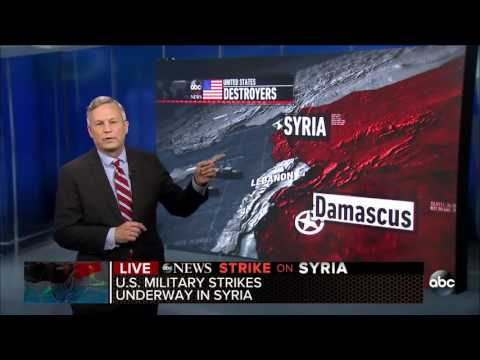 US Attacks Syria Air Base with Cruise Missiles after Chemical Attack