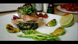 Рецепт нежнейшего морского окуня на подушке из овощей