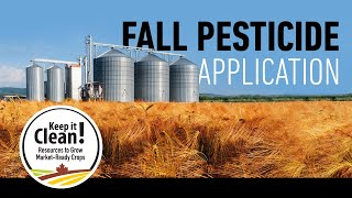 Keep it Clean - Fall Pesticide Application