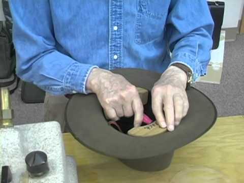ccc60a9e Putting a long oval in fur felt hats: David Morgan Presents Akubra - YouTube