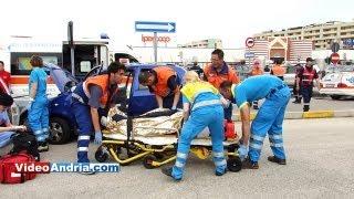 Esercitazione di Protezione Civile: feriti in auto incendiate  presso l'Ipercoop di Andria thumbnail