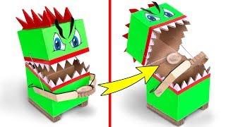 Comment Faire une Tirelire qui Avale les pièces avec du Simple Carton