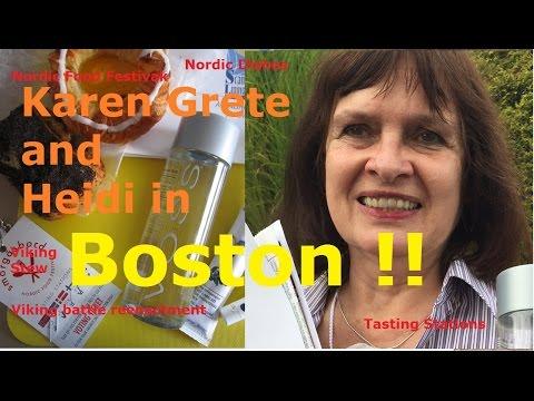 Karen Grete & Heidi in Boston | Attended the Smörgåsbord Nordic Food Festival!!