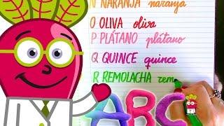 ABECEDARIO FRUTAS VERDURAS Vocabulario Español Letra Cursiva