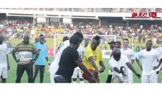 Asamoah Gyan  Adebayor dancing with Gasmilla to Telemo 2015