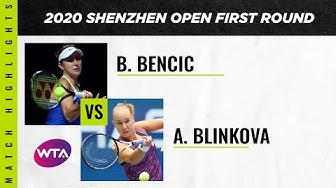 Belinda Bencic vs. Anna Blinkova   2020 Shenzhen Open First Round   WTA Highlights