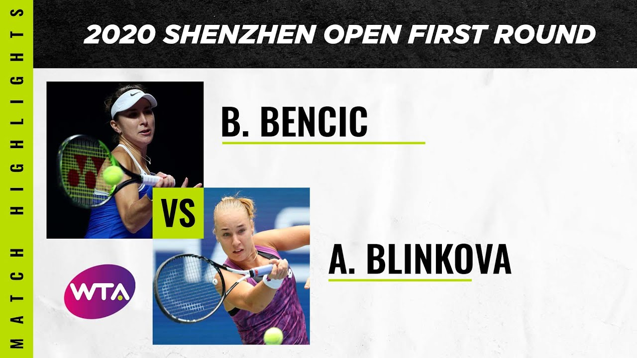 Belinda Bencic vs. Anna Blinkova | 2020 Shenzhen Open First Round | WTA Highlights