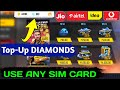 How To Top-Up Diamonds In Free Fire Using SIM Card Balance  Topup Diamonds By SIM Card 101% Work