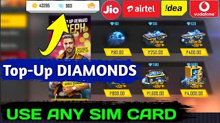 how To Top-Up Diamonds In Free Fire Using SIM Card Balance  Topup Diamonds By SIM Card 101 Work
