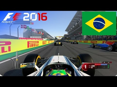 F1 2016 - 100% Race at Autódromo José Carlos Pace, Brazil in Massa's Williams