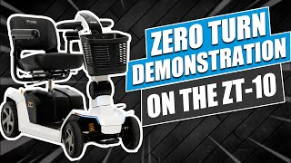 Zero Turn Demonstration  on the ZT-10 Mobility Scooter by Pride