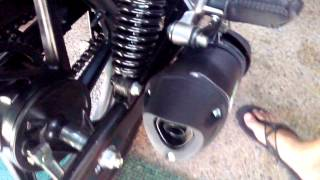 rouser 180 with Nob1 Neo silent sport exhaust