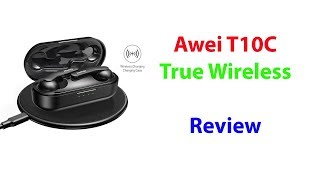 AWEI T10C True Wireless Earbuds with Wireless Charging Case