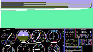 PC Booter Game: Microsoft Flight Simulator (v1.0) (1982 Microsoft)
