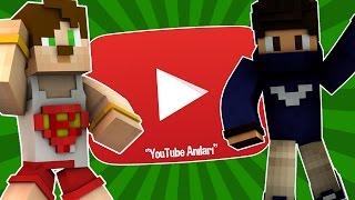 YouTuberlarla Olan Anılarımızı Anlatıyoruz (YERALTI ULAŞIM) #3 World in Minecraft
