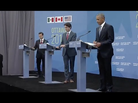 Obama, Trudeau, Pena Nieto News Conference-Full Event