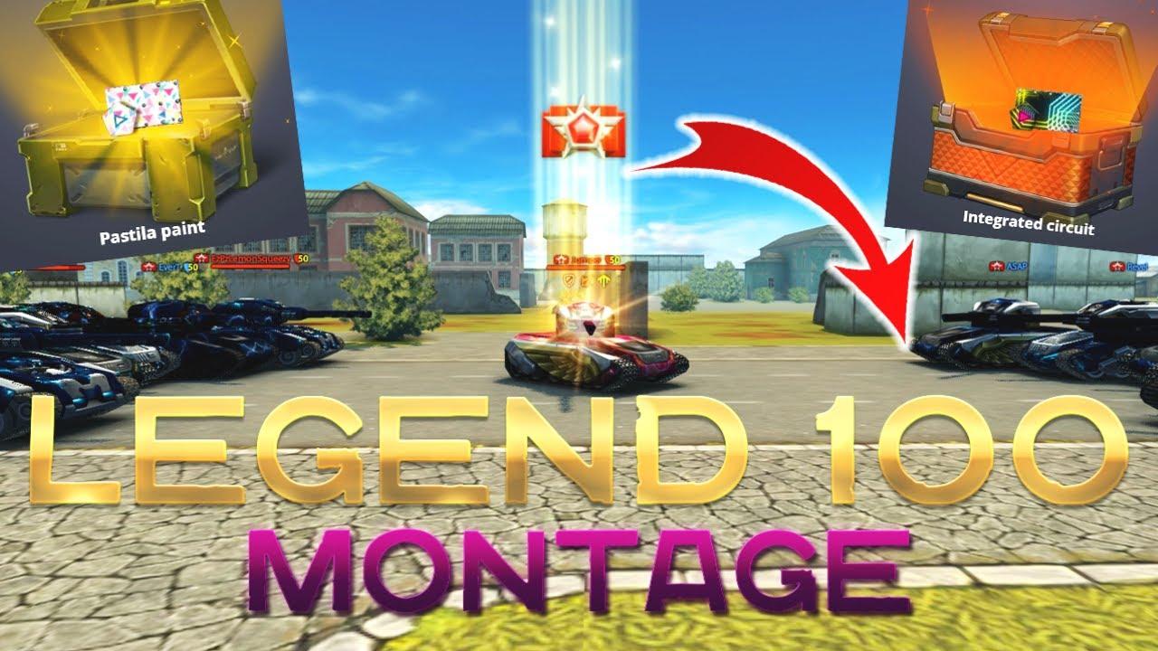 Tanki Online - Legend 100 Special Montage! | 21 Million Experience!