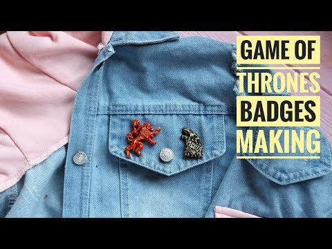 Game of thrones pins making - how to mix and pour Axson liquid plastic resin