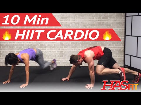 10 Min HIIT Cardio Workout for Fat Loss – High Intensity Workout at Home