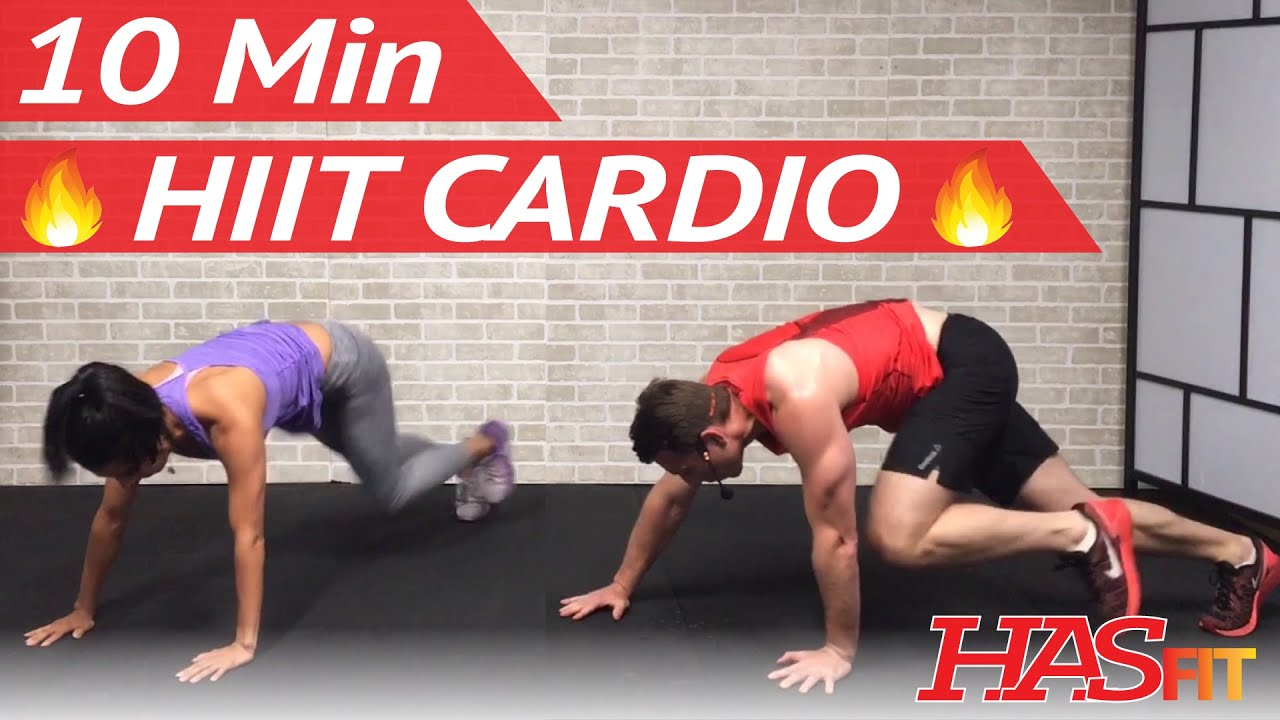 10 Min HIIT Cardio Workout For Fat Loss
