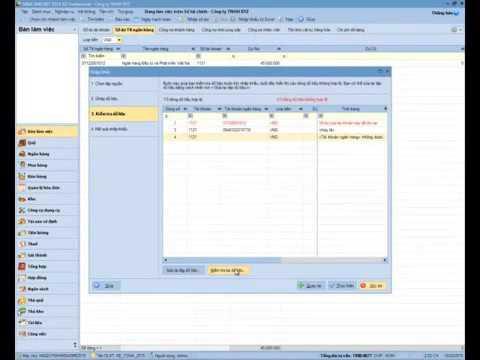 Học phần mềm kế toán MiSa   Nhập số dư tài khoản ngân hàng