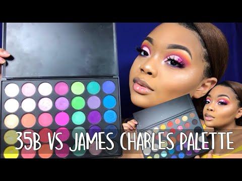Morphe 35B vs Morphe x James Charles | Made Up by Kirsten