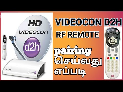 How to pairing videocon d2h RF remote tamil
