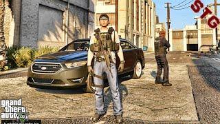 2019 FORD TAURUS  GANG UNIT PATROL!!!  #107 (GTA 5 REAL LIFE PC POLICE MOD)