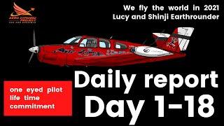 Day 1~18 highlights - Shinji & Lucy Earthrounder -