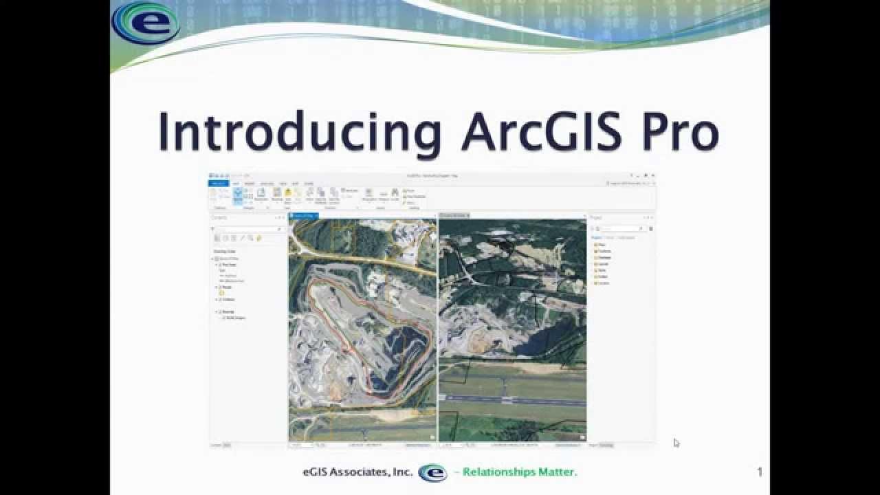 Introducing ArcGIS Pro Webinar Recording - eGIS Associates