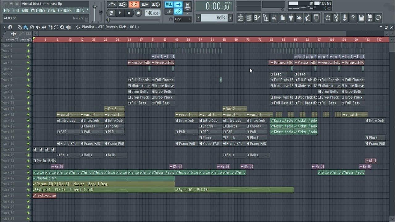Future Bass : Virtual Riot Style (FLP, Project) + Acapella
