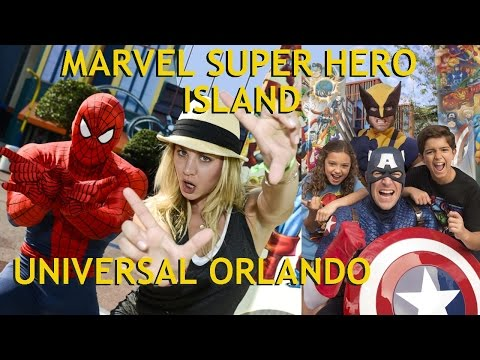 Marvel Super Heroes Roll Into Town @ Universal Studios Islands Of Adventure Orlando