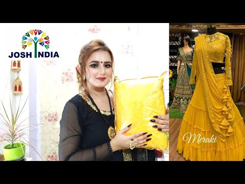 OMG😍Beautiful Yellow💛 Lehenga For Engagement / #JoshIndia / SWATI BHAMBRA