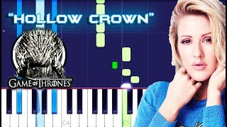 Ellie Goulding - Hollow Crown Piano Tutorial EASY (Game Of Thrones)