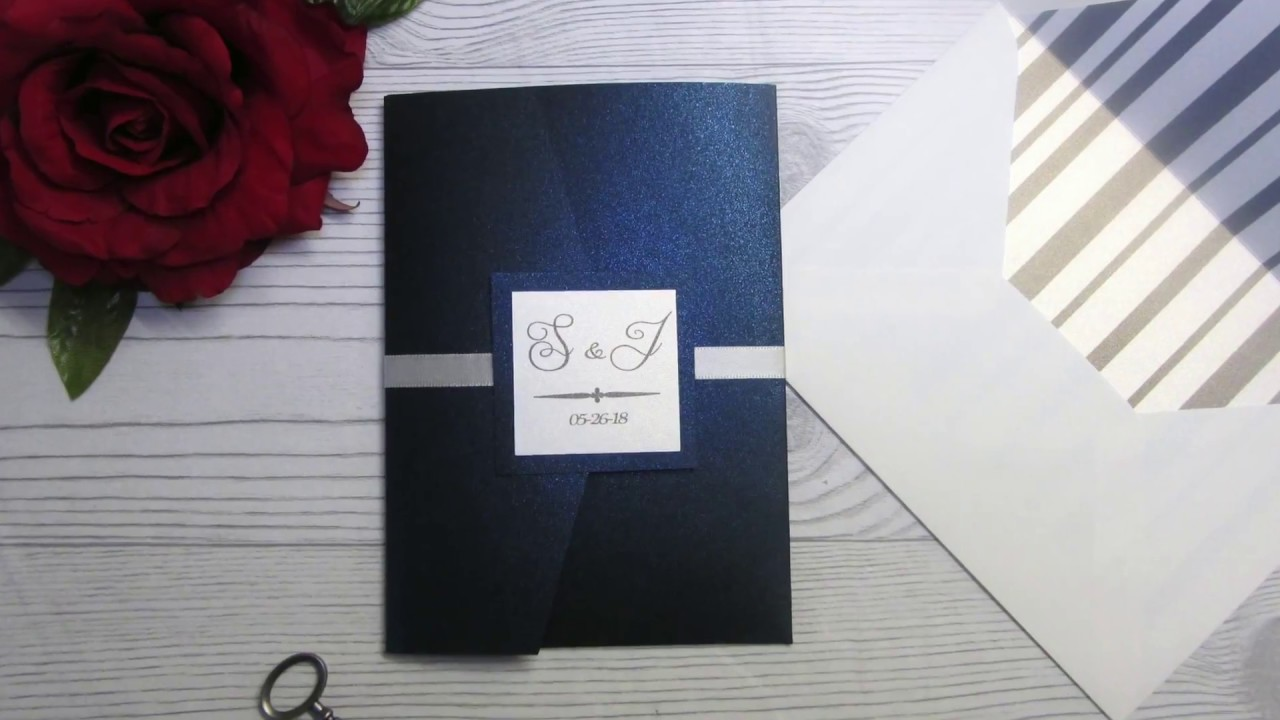 DIY POCKETFOLD WEDDING INVITATION USING CRICUT EXPLORE (PART I ...